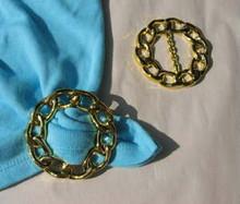 Tee shirt clip/t-shirt pull goldtone links