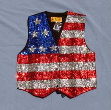 Vest sequined Stars & Stripes XXXL