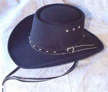 Hat, gambler-style black
