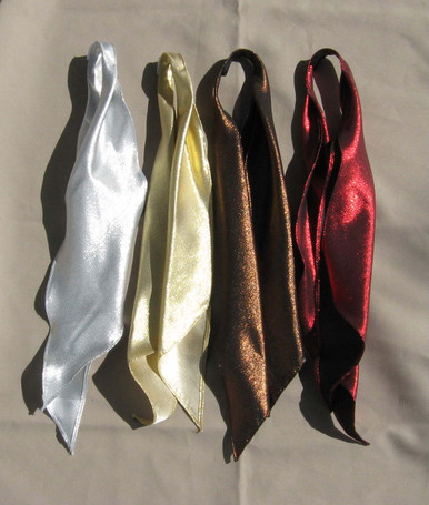 Metallic scarf ties - silver, gold, brown, red
