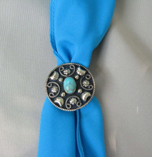 Shown with our turquoise scarf tie!