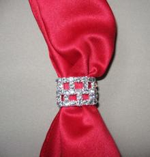 Scarf tie slide rhinestone ring open
