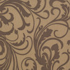 Adore Splashy Corsage Wallpaper, Tan / Mocha Brown