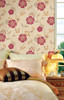 Flowers and Butterflies Wallpaper, Ivory