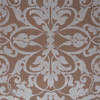 Swirls Wallpaper, Brown / Silver