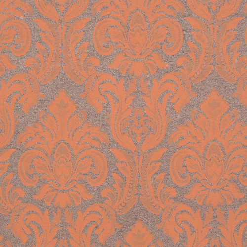 Victoria Gallic Wallpaper, Metallic Brown / Orange