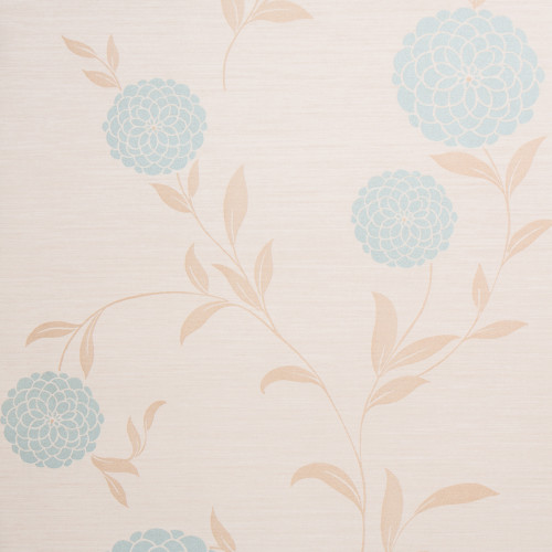 Pom Pom Wallpaper, Beige / Blue