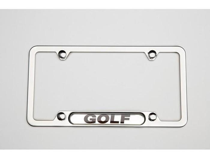 Vw Golf Polished License Plate Frame (D043)