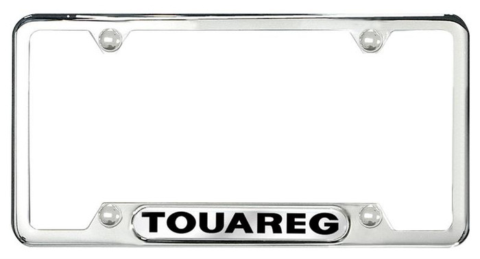 Vw Touareg Polished License Plate Frame (L024)