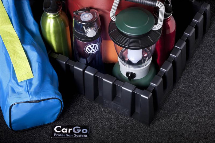 Vw CC Cargo Mat with Organizing Blocks