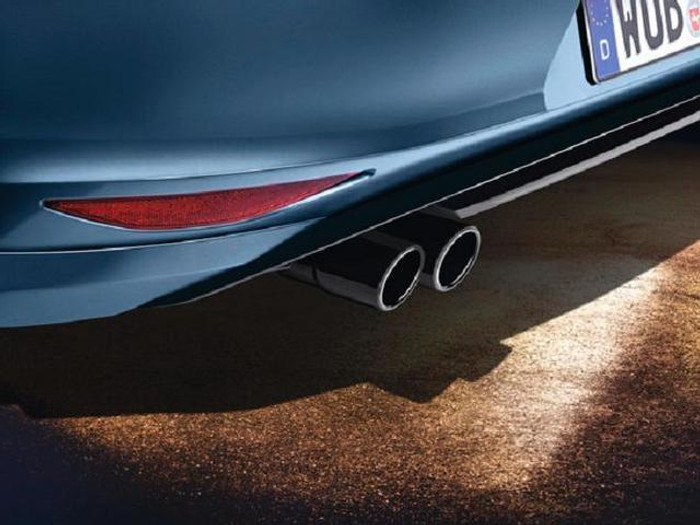Vw Beetle Black Stainless Steel Dual Exhaust Tips (A020)