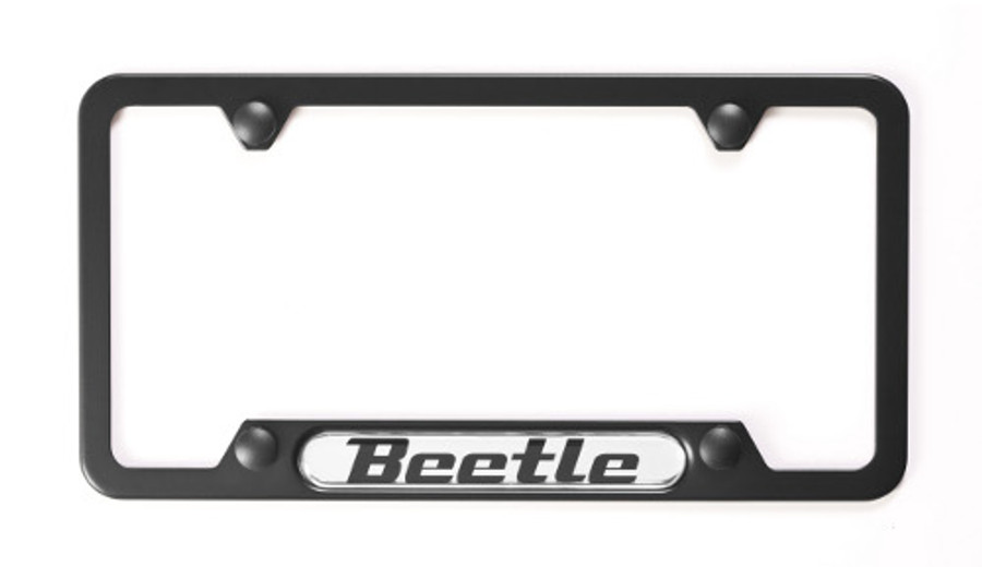 Vw Beetle Black License Plate Frame (A013)
