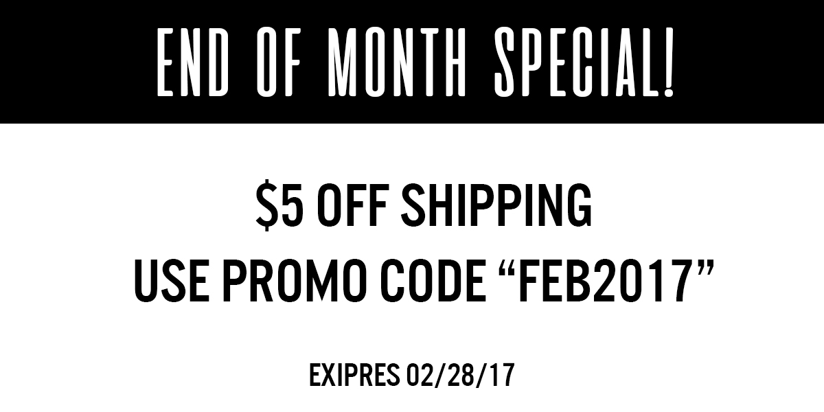 """Banner with promo code """"FEB2017"""""""