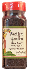 Black Lava Hawaiian Sea Salt 2.64 oz. Plastic Shaker