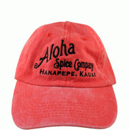 Red Aloha Spice Company 6 Panel Washed Cap