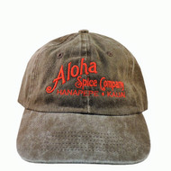 Black Aloha Spice Company 6 Panel Washed Cap