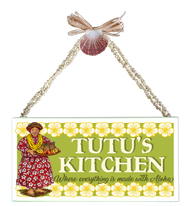 Tutu's Kitchen  Varnished Canvas Sign