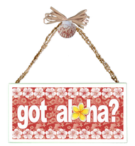 Got Aloha?  Varnished Canvas Sign