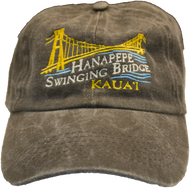 Black Swinging Bridge Washed Cap