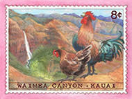 8 Cent Rooster Magnet