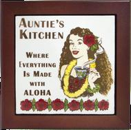 "Auntie's Kitchen 6"" Tile Framed"