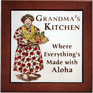 "Grandma's Kitchen 6"" Tile Framed"