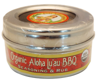 Organic Aloha Lu`au BBQ Rub & Seasoning 3.3 oz. Stainless Steel Tin