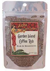 Garden Island Coffee Rub & Seasoning 2.15 oz. Stand Up Pouch