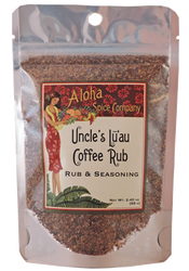 Uncle's Lu`au Coffee Rub & Seasoning 2.4 oz. Stand Up Pouch