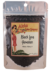 Black Lava Hawaiian Sea Salt 4.23 Oz. Stand Up Pouch