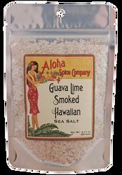 Guava Lime Smoked Hawaiian Sea Salt 2.11 oz. Stand Up Pouch