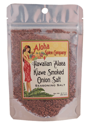 Hawaiian Kiawe Smoked `Alaea Onion Salt 2.11 oz. Stand Up Pouch