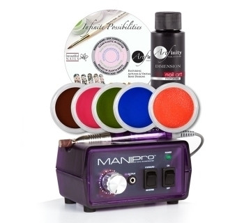 The MANIPro Original Purple Bundle Artfinity Electric Nail File