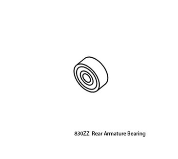 830ZZ Replacement Rear Armature Bearing for Upower UG12 & SUG12 Handpieces (UG12, SUG12, UG14, DM12)