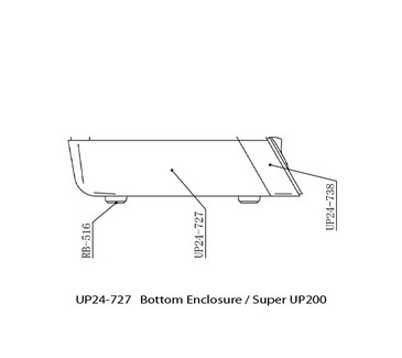 UP24-727 Base Enclosure Super UP200 Replacement for Upower Model Super UP200 Control Box