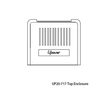 UP20-717 Cover Enclosure UP200/UP-200-V Replacement Cover Enclosure for Upower UP200 Control Box.