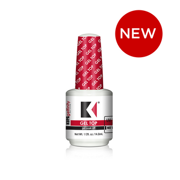GelFinity Gel Top Coat 1/2oz Bottle:     GelFinity Gel Top Seals Soak-Off gel polish to a high gloss shine that will not fade, chip or peel.  Cures to a no-wipe finish.  To remove soak-off with acetone or polish remover.  Cures 90 seconds in your KUPA GelFinity UV/LED Hybrid Light or 2 minutes in a standard UV Light.    To Remove: Soak in acetone until soft then gently remove with a metal pusher.