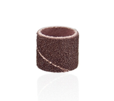 Pedicure Sanding Bands X-COARSE (Pack of 25 each)   Manufactured in the U.S.A. and are barrel shaped with cloth inner sleeves that allow them to be used in wet environments. When used in combination with our  Mandrel, the bands hold firm while in use but are easily removed. For use in pedicure service. Available in XCoarse (80 grit), XXCoarse (60 grit), XXXCoarse (40 grit)   NOTE: Sanding bands are designed for single use only and cannot be disinfected.