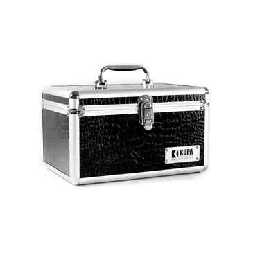 The Official KUPA Logo Nail Professional Case!  Perfect for the on the go Nail Technician or a student traveling between classes.   The case is Black in color with Silver Trim.