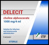 DELECIT®, (aka Choline Alfoscerate, Gliatilin), 400mg/pill, 14pills/pack