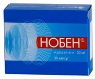 NOBEN®, (aka Idebenon, Catena, Raxone, Sovrima) 30pills/pack, 30mg/pill