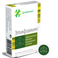EPIPHAMIN®, (Endocrine bioregulator) 40pills/pack, 155mg/pill
