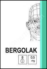 BERGOLAC® (aka Cabergoline, Cabaser, Dostinex), 0.5mg/tab, 8 tab/pack