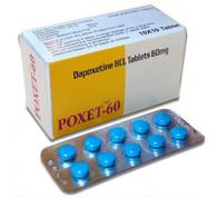 POXET-60® (aka Dapoxetine, Priligy and Westoxetin), 60mg/tab, 10tabs/blister