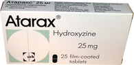 ATARAX® (aka Hydroxyzine, Vistaril) 25pills/pack, 25mg/pill