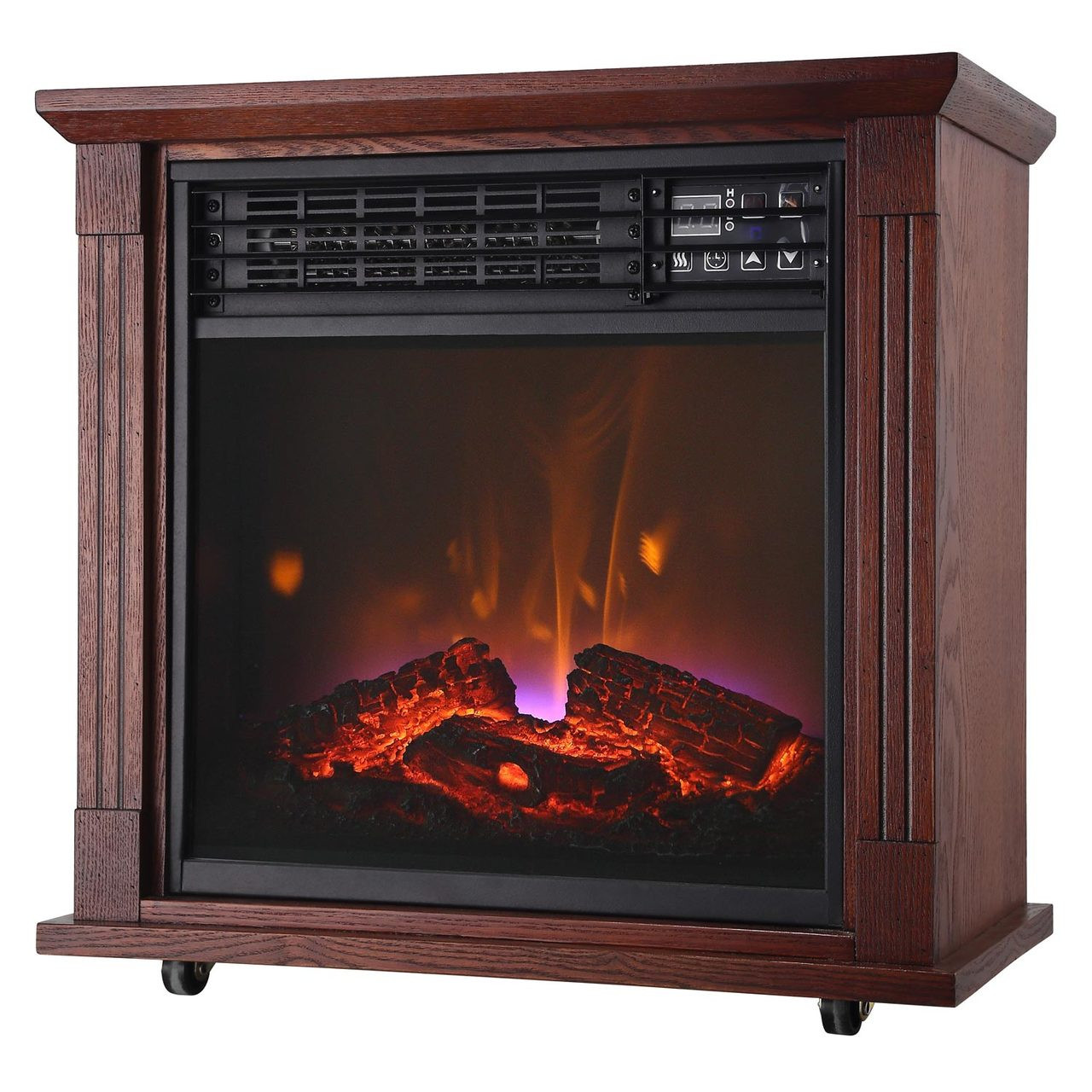 comfort glow qf4544r mobile quartz electric fireplace with real