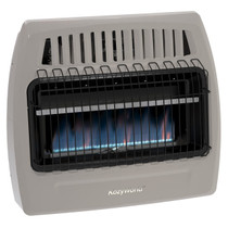 Kozy World KWD378 30000 Btu Blue Flame Dual Fuel Vent Free Wall Heater