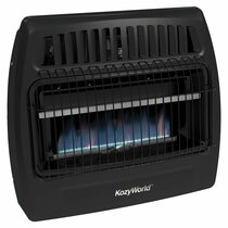 Kozy World KWG362 30000 Btu Blue Flame Dual Fuel Vent Free Utility Wall Heater