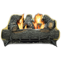 Kozy World GLD2455T Propane (LP) or Natural (NG) Gas Vent Free 24 in. Black Forest Log Set, 30000 BTUs