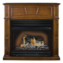 Kozy World GFD3280R The Savannah Remote Controlled Vent Free Gas Fireplace, 30000 Btu